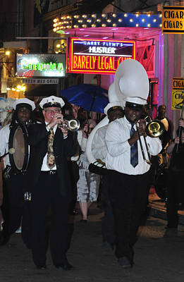 Marching Band Photograph - Band Marching On Bourbon Street by Bourbon  Street