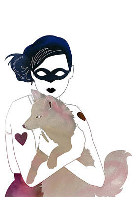 Fox Digital Art - Bandit by Janina Aberg