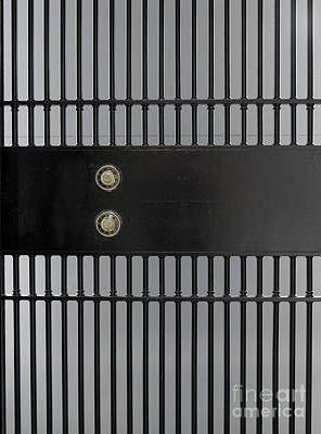 Bank Vault Gate Print by Adam Crowley