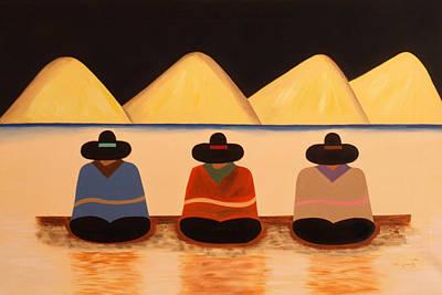 Poncho Painting - Banus by Damaris Munoz Arias