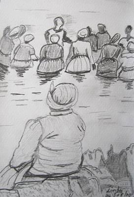 Baptism At Sea Original by Jennylynd James