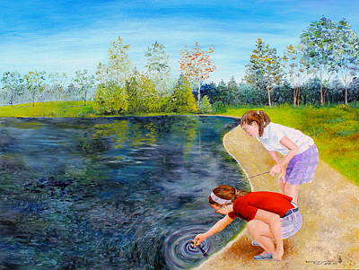 Baptizing The Leprechaun Print by Larry Whitler
