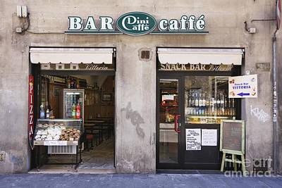 Bar Caffe Print by Jeremy Woodhouse