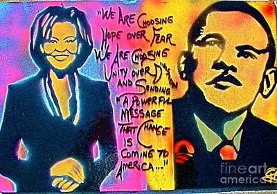 Michelle Obama Painting - Barack And Michelle by Tony B Conscious