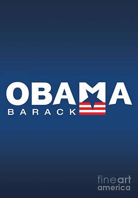 Barack Obama Print by Darren Burroughs