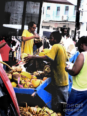 Shoping Digital Art - Barbados Market by Jared Theberge