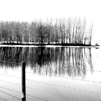 Barbed Water Print by JC Photography and Art