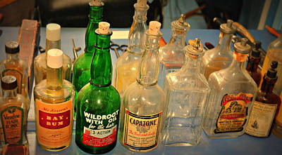 Barber Bottles Print by Marty Koch