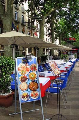 Mediterranean Photograph - Barcelona Tapas Bar by Carla Parris