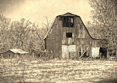 Barn-sepia Print by EricaMaxine  Price