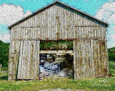 Barn Treasures Print by Cheryl Young