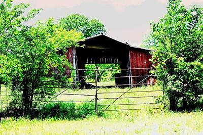 Barn Yard Beyond Print by Sharon Farris