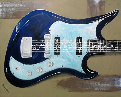Van Halen Painting - Barracuda by Fred Szabries