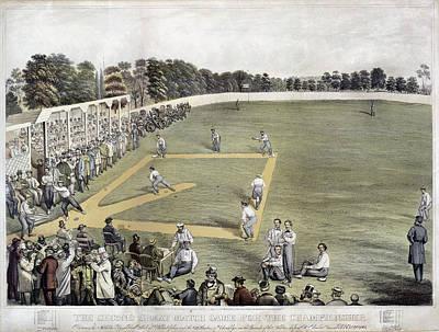 Baseball, 1866 Print by Granger