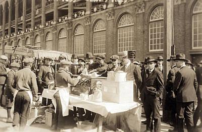 Baseball. Hot Dog Vendors Sell To Fans Print by Everett