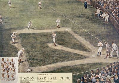 Baseball, New York At Boston, 1889 Print by Everett