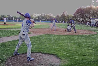 Baseball On Deck Digital Art Print by Thomas Woolworth