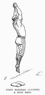 1st Base Photograph - Baseball Player, 1889 by Granger
