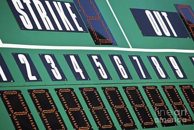 Baseball Scoreboard Print by Bryan Mullennix