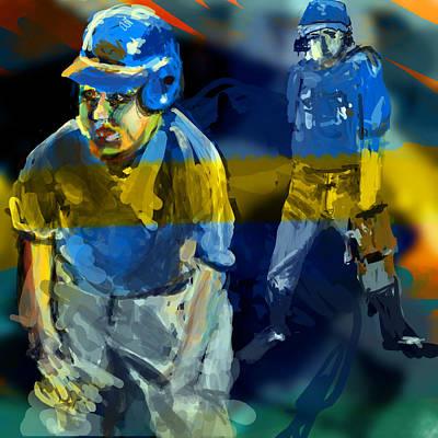 1st Base Digital Art - Baseball Stances  by James Thomas