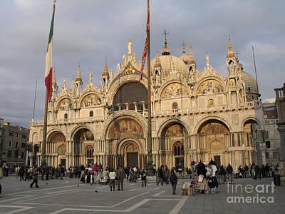 Basilica San Marco Print by Bernard Jaubert