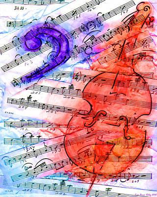 Bass Cut Sheet Print by Lisa A Bello