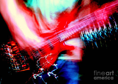 Bass Guitar 1 Print by Jason D Rogers