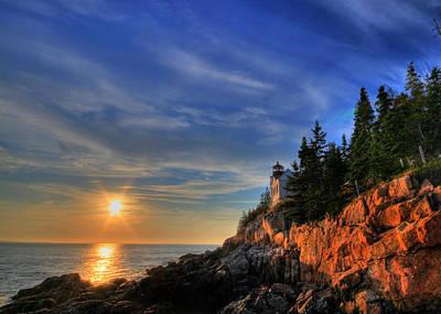 Sbatdorf Digital Art - Bass Harbor Lighthouse by Sharon Batdorf