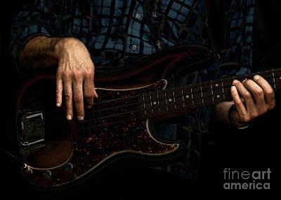 Bass Side Blues Print by Steven  Digman