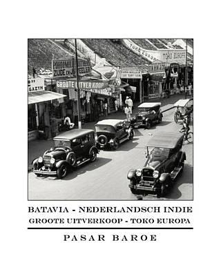 Batavia Pasar Baroe Print by Nick Diemel