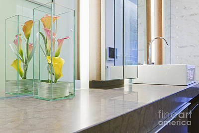 Bathroom Sinks Photograph - Bathroom Counter And Sink by Jeremy Woodhouse