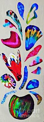 For Business Mixed Media - Batik Bouquet by Sarah Loft