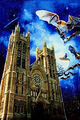 Magic Carpet Ride Painting - Bats In The Belfry by Hanne Lore Koehler