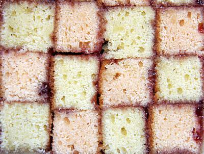 Diet.eat Photograph - Battenburg Cake by Jane Rix