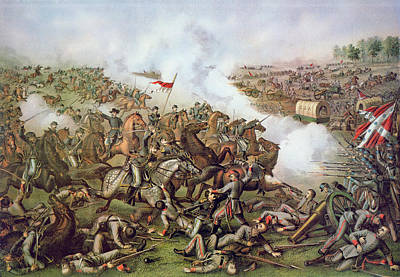 Gunfire Painting - Battle Of Five Forks Virginia 1st April 1865 by American School