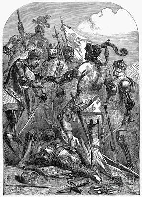 Battle Of Poiters, 1356 Print by Granger