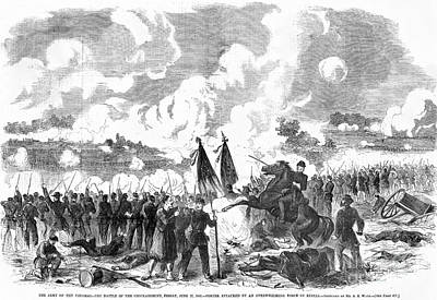 Battle Of The Chickahominy Print by Granger