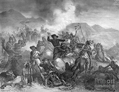 Battle On The Little Big Horn, 1876 Print by Photo Researchers