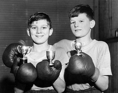 Boys Boxing Photograph - Battling Twins by Fred Morley