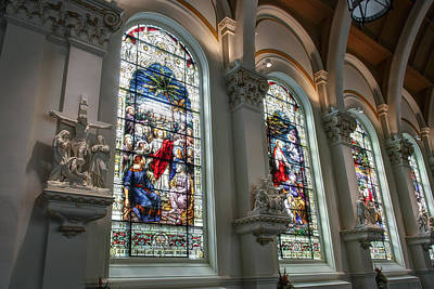 Bavarian Cathedral Glass - Spokane Washington Print by Daniel Hagerman