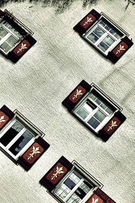 Nice House Photograph - Bavarian Window Shutters by Joana Kruse