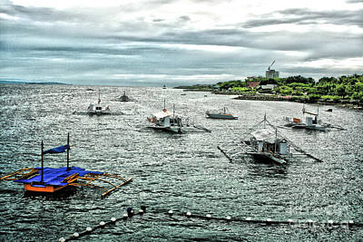 Bay Of Mactan Island Philippines Print by Anita Antonia Nowack