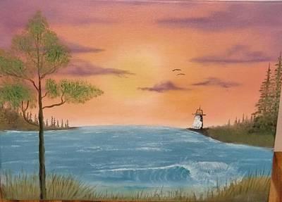 Bay Sunset Print by Nick Ambler