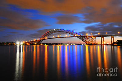 Sunset At The Bridge Photograph - Bayonne Bridge by Paul Ward
