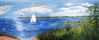 Bayville Painting - Bayville Marsh by Clara Sue Beym