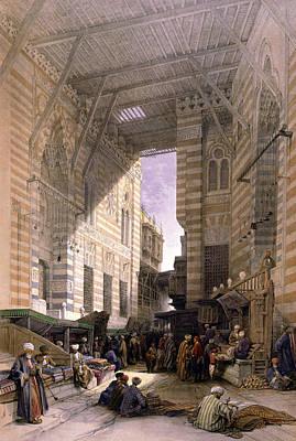 Bazaar Of The Silk Mercers Print by Munir Alawi