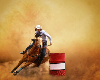 Barrel Racing Photograph - Be Quick  by Ron  McGinnis