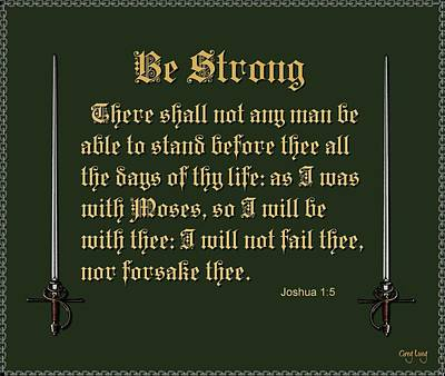 Be Strong Print by Greg Long