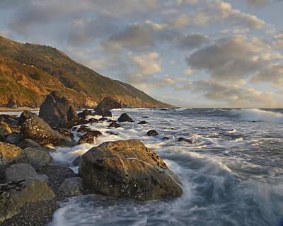 Of Big Sur Beach Photograph - Beach At Kirk Creek Beach Big Sur by Tim Fitzharris