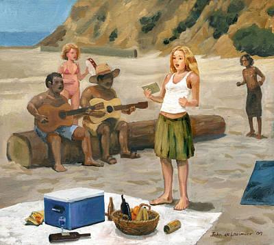 Beach Concert Original by John DeLorimier
